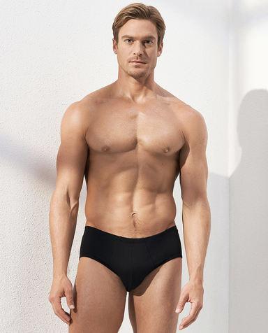 Aimer Men内裤|爱慕先生自然棉中腰三角内裤两件包NS22C241