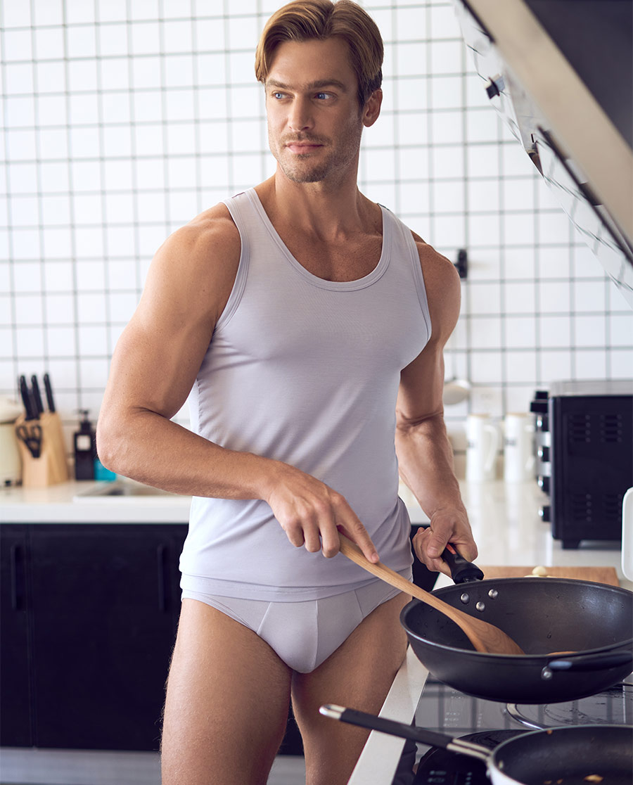 Aimer Men内裤 爱慕先生莫代尔内裤双件包包腰三角内裤NS