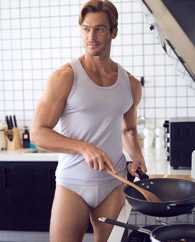 Aimer Men内裤|爱慕先生莫代尔内裤双件包包腰三角内裤NS22C201