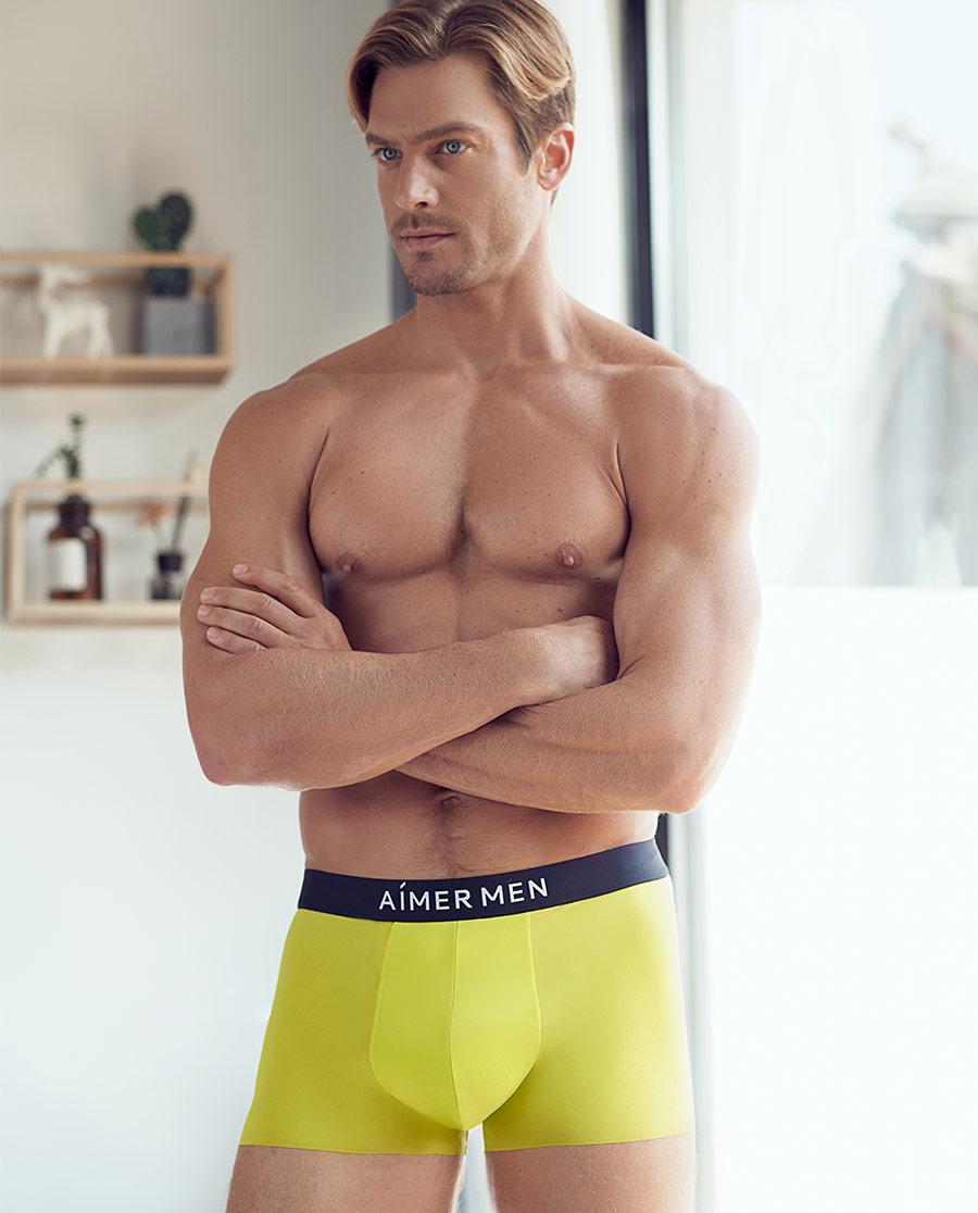 Aimer Men内裤|爱慕先生时尚运动装腰平角内裤NS23C2