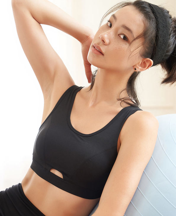 Aimer Sports文胸|爱慕运动热力健身中强度背心式薄模杯文胸AS116E62