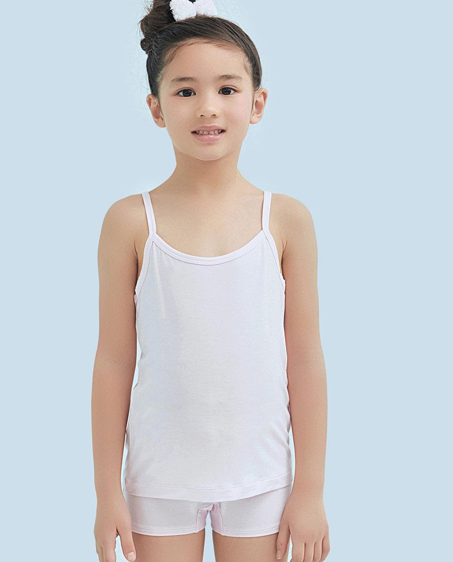 Aimer Kids睡衣|ag真人平台儿童天使背心modal女童吊带背心AK1111101