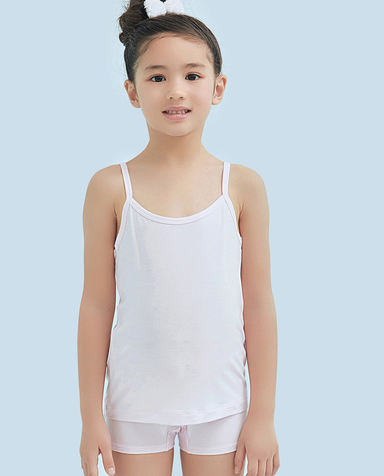Aimer Kids睡衣|爱慕儿童天使背心modal女童吊带背心AK1111101