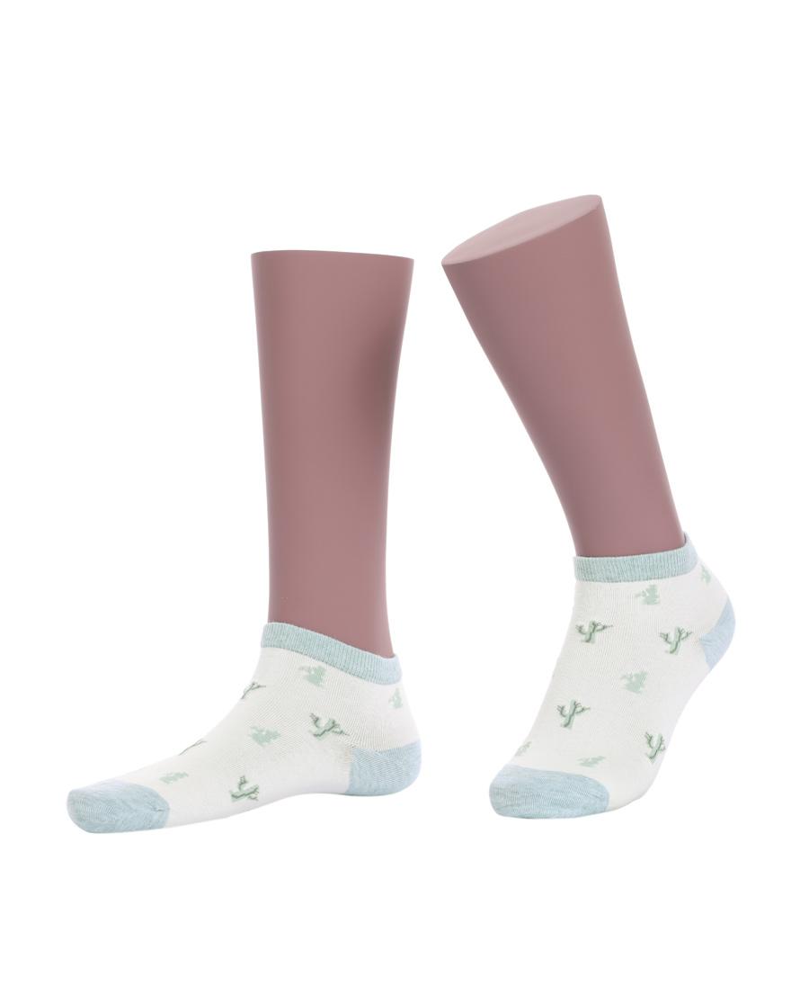 JOURVA襪子|足哇神秘花園女士仙人掌提花低幫襪(2件包