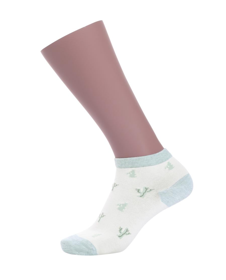 JOURVA袜子|足哇神秘花园女士仙人掌提花低帮袜(2件包