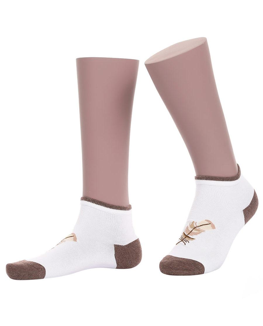 JOURVA襪子|足哇神秘花園女士樹葉提花低幫襪(2件包)