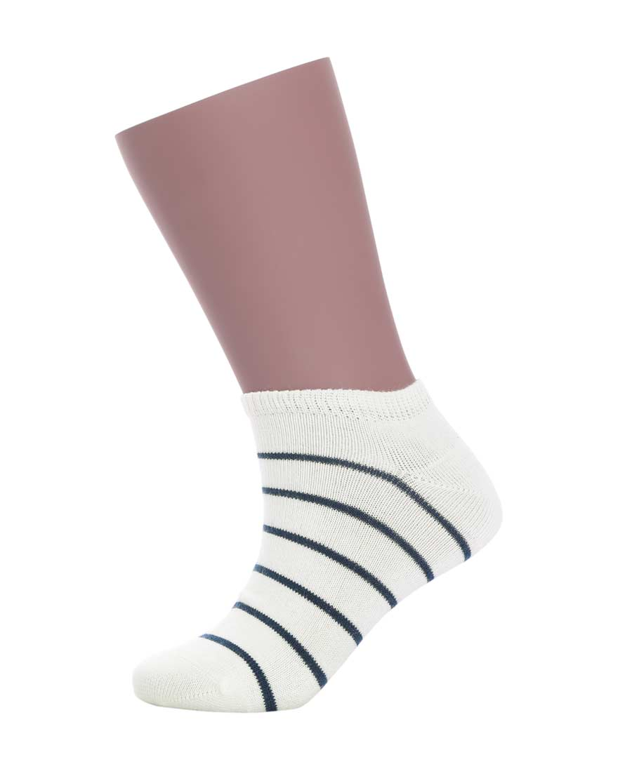 JOURVA袜子 【买5免1】足哇(2件包)运动条纹棉条纹系列童袜JV4110281