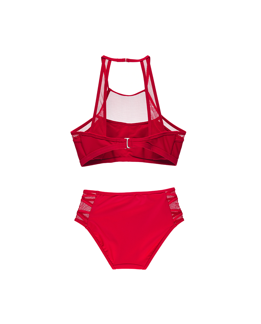Shine Love泳衣|心爱网眼诱惑绑带比基尼SL67U91