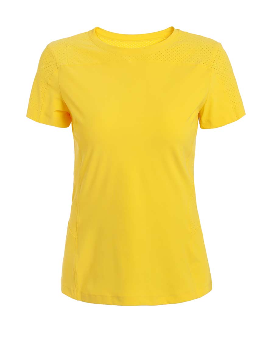 Aimer Sports运动装|爱慕运动iMOVE II洞洞拼接短袖T恤