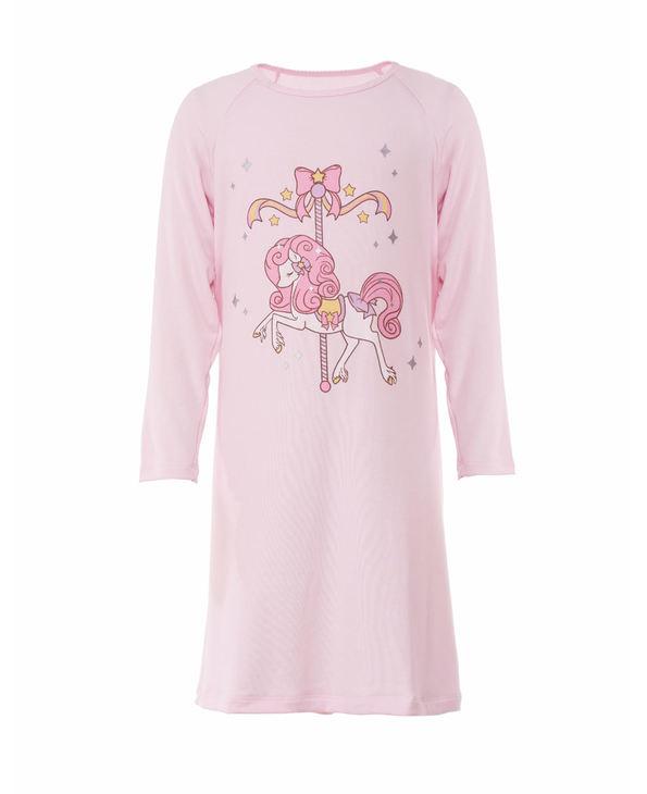 Aimer Kids睡衣|爱慕儿童梦幻木马长袖睡裙AK1441991