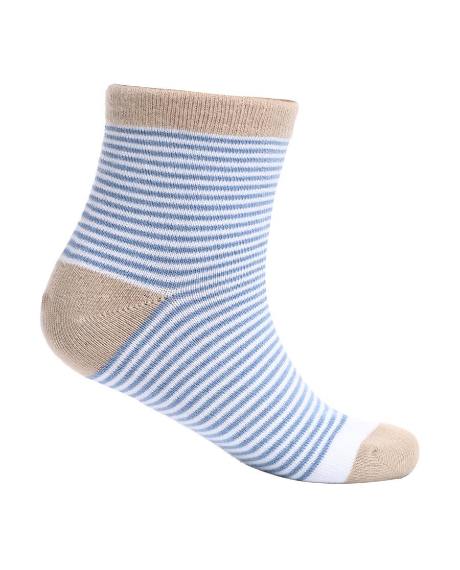 Aimer Kids袜子|爱慕儿童19AW袜子条纹撞色男童袜AK2