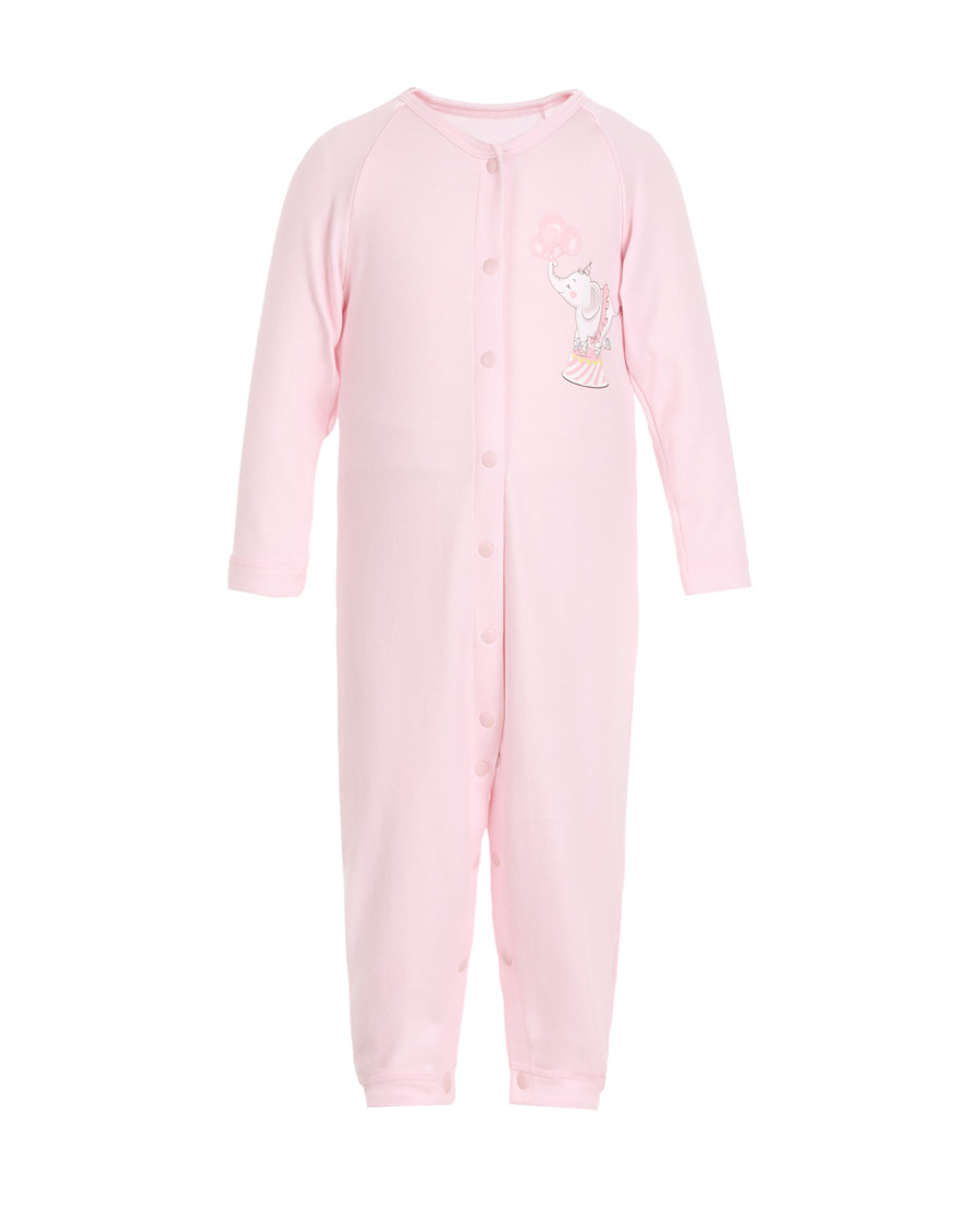 Aimer Baby保暖|爱慕婴幼小象乐园长袖连体爬服AB1751