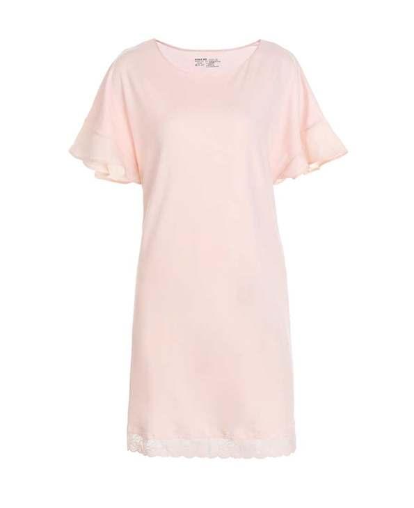 Aimer Home睡衣|愛慕家居牛奶好眠II短袖睡裙AH440531