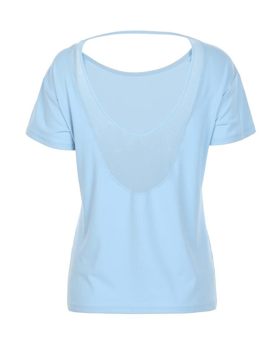 Aimer Sports运动装|爱慕运动舒展瑜伽后背镂空短袖T恤AS143H12