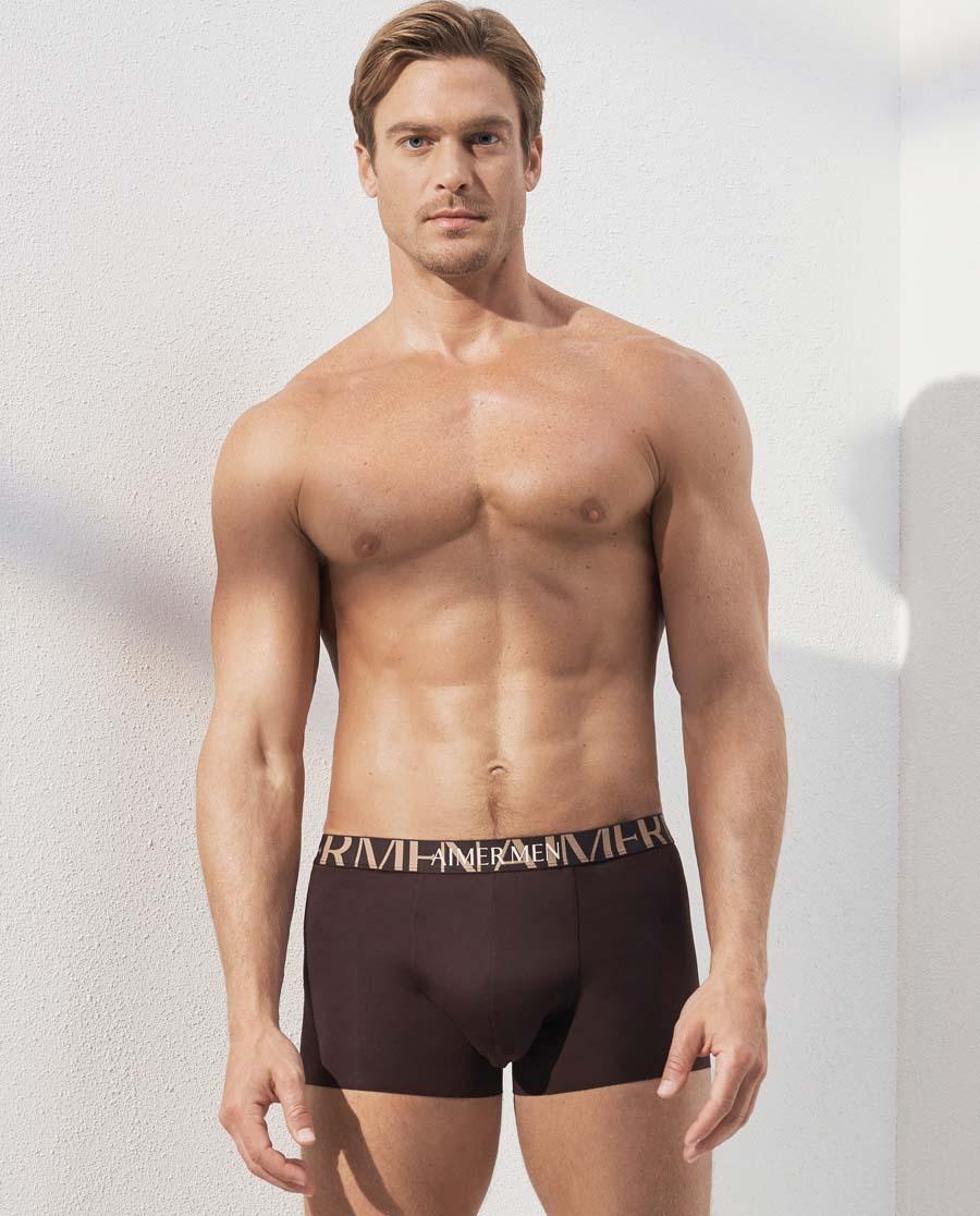 爱慕先生纵享丝滑装腰平角内裤NS23C261