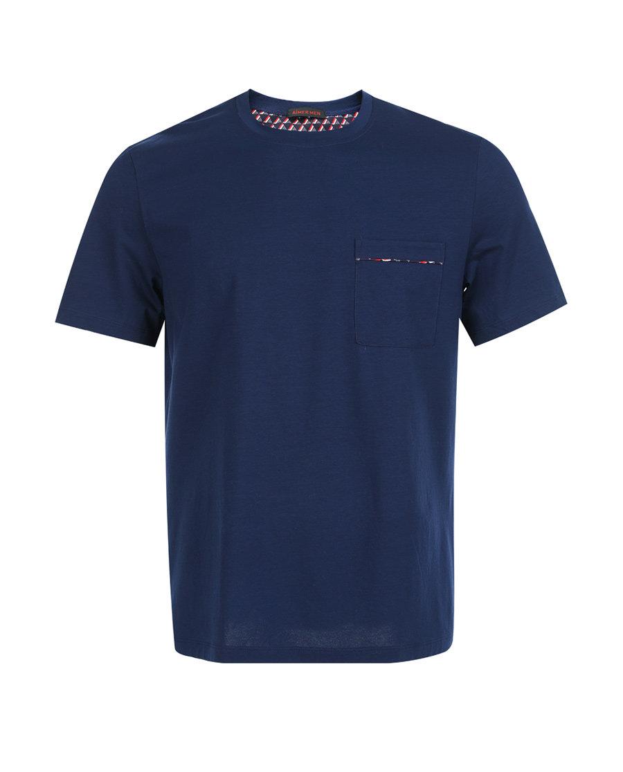 Aimer Men睡衣|爱慕先生温馨家人系列圆领短袖上衣NS41B942