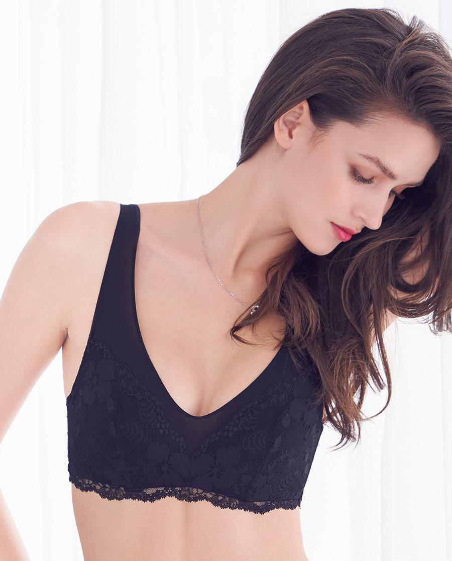 Aimer文胸|ag真人平台裸感4/4大罩杯文胸AM113112