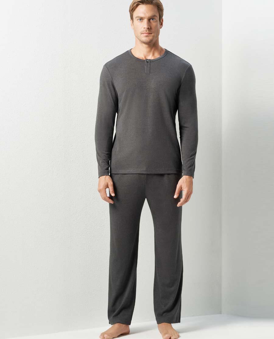 Aimer Men睡衣|亚洲城娱乐蓝标家居长裤NS42C561