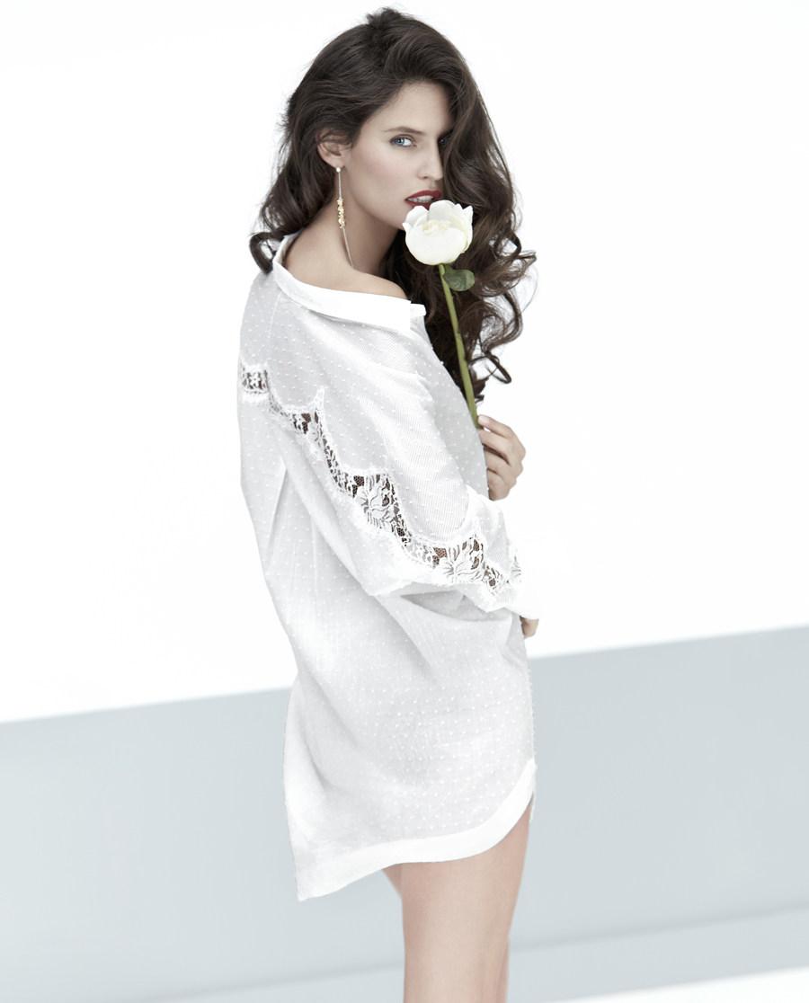 La Clover睡衣|LA CLOVER纯真年代长款衬衫LC45DT1
