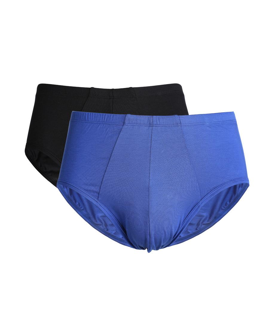 Aimer Men内裤 ag真人平台先生单品莫代尔双件包中腰三角内裤NS22B091
