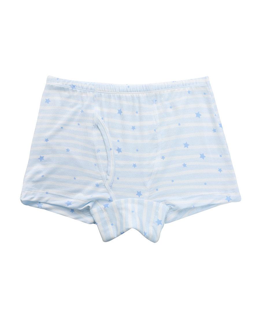 Aimer Kids内裤|ag真人平台儿童天使小裤MODAL印花条纹星星男童中腰平角内裤AK2231201