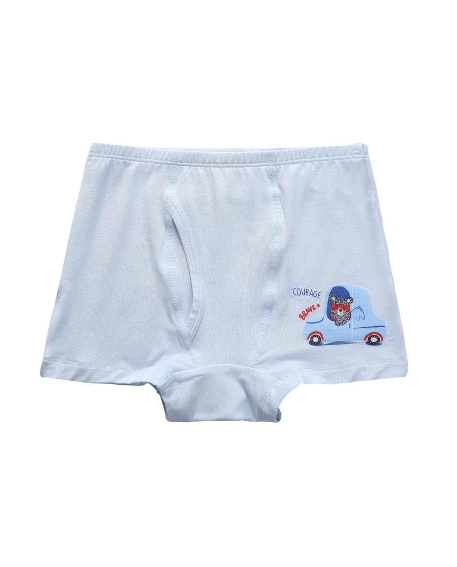 Aimer Kids内裤|ag真人平台儿童慕尔熊男童中腰平角内裤AK2230901