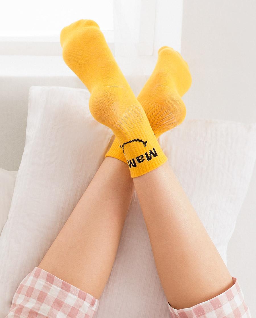 JOURVA襪子|足哇HI一家人女士印花中筒襪JV1110
