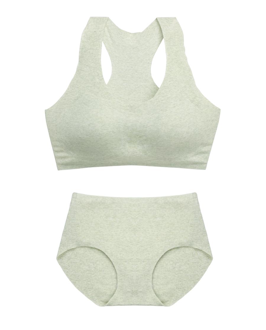 HUXI文胸|乎兮植物染文胸+内裤套装HX171908