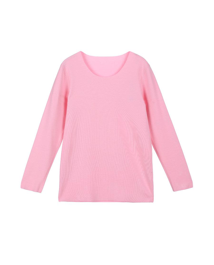 Aimer Kids保暖 爱慕儿童暖绒圆领女童长袖上衣AK1721691