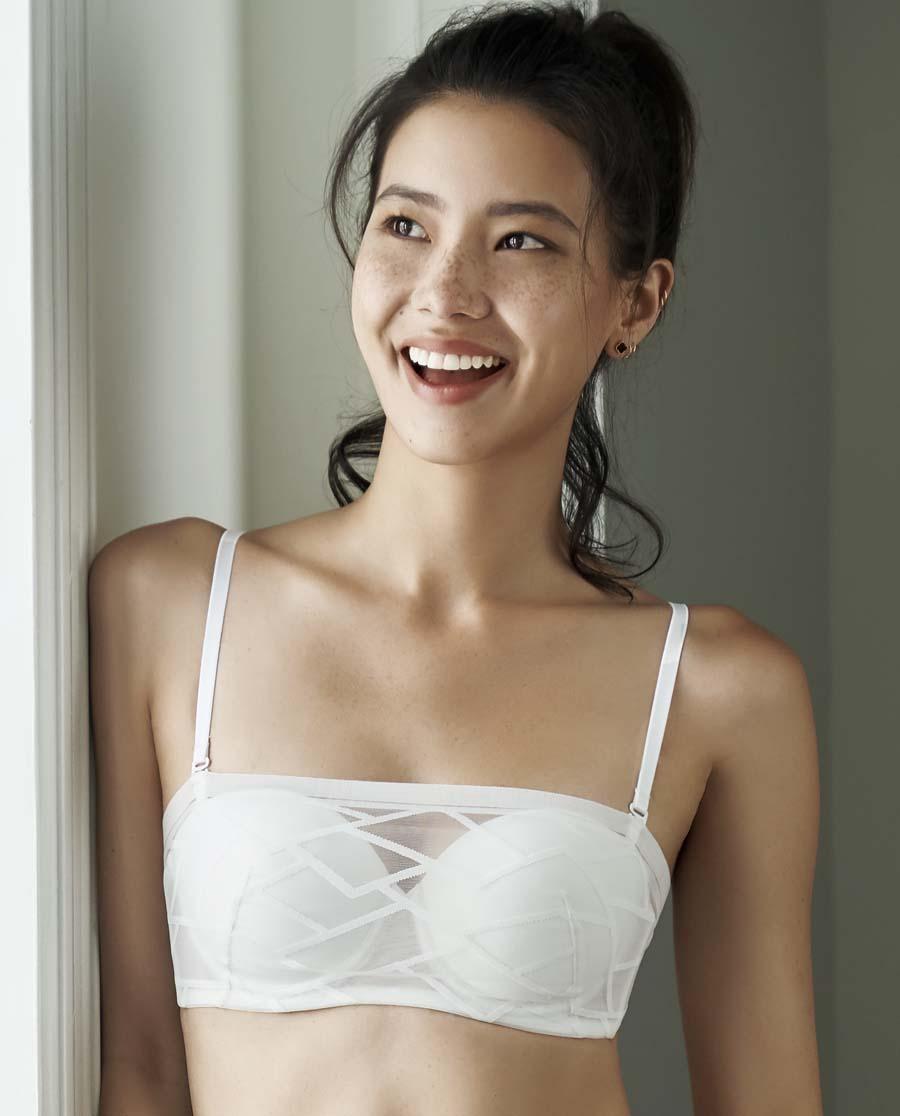 Aimer文胸|亚洲城职场力量1/2薄模杯抹胸文胸AM15