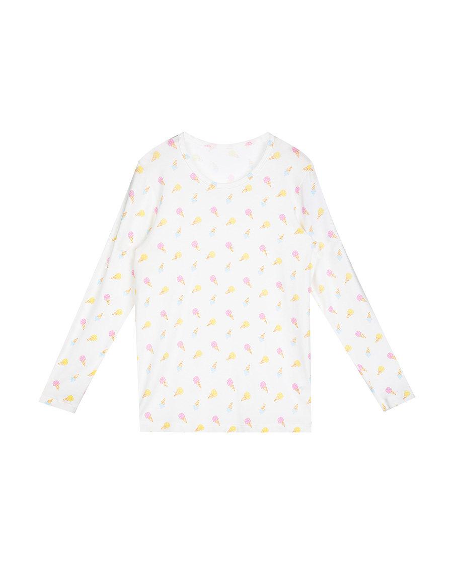 Aimer Kids保暖 爱慕儿童冰激凌长袖上衣AK1720671