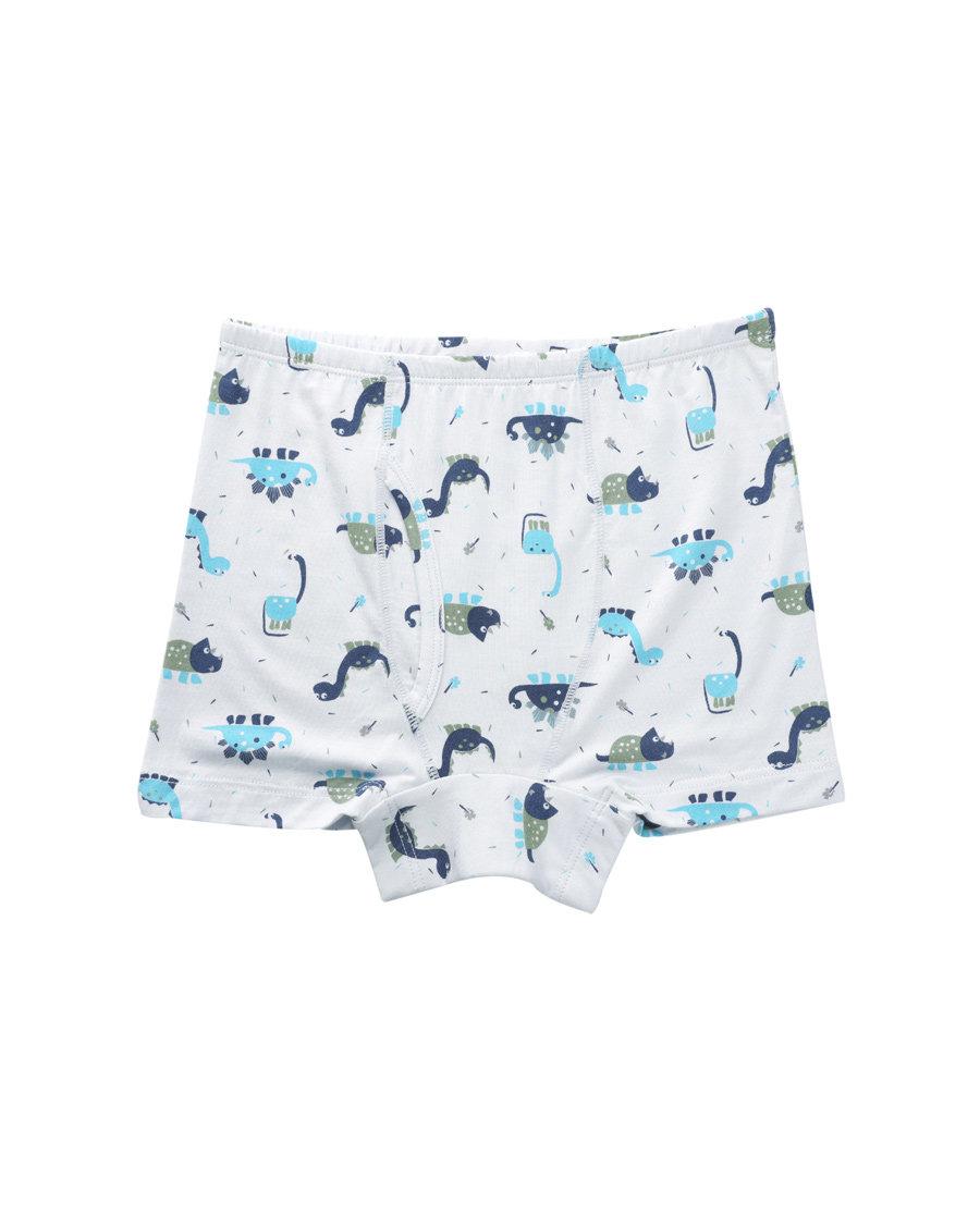 Aimer Kids内裤|爱慕儿童天使小裤MODAL印花恐龙乐园中腰平角内裤AK2230046