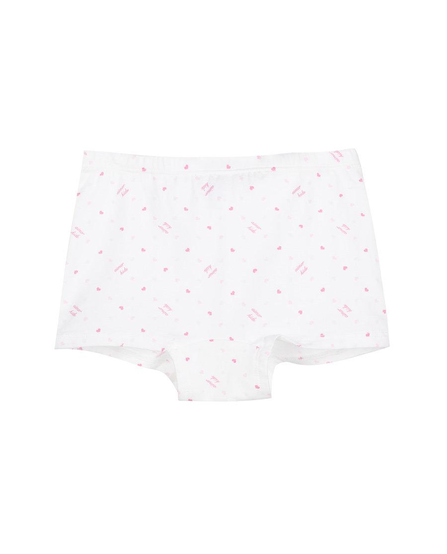 Aimer Kids内裤|爱慕儿童天使小裤棉氨纶印花女童中腰平角内裤AK1231212