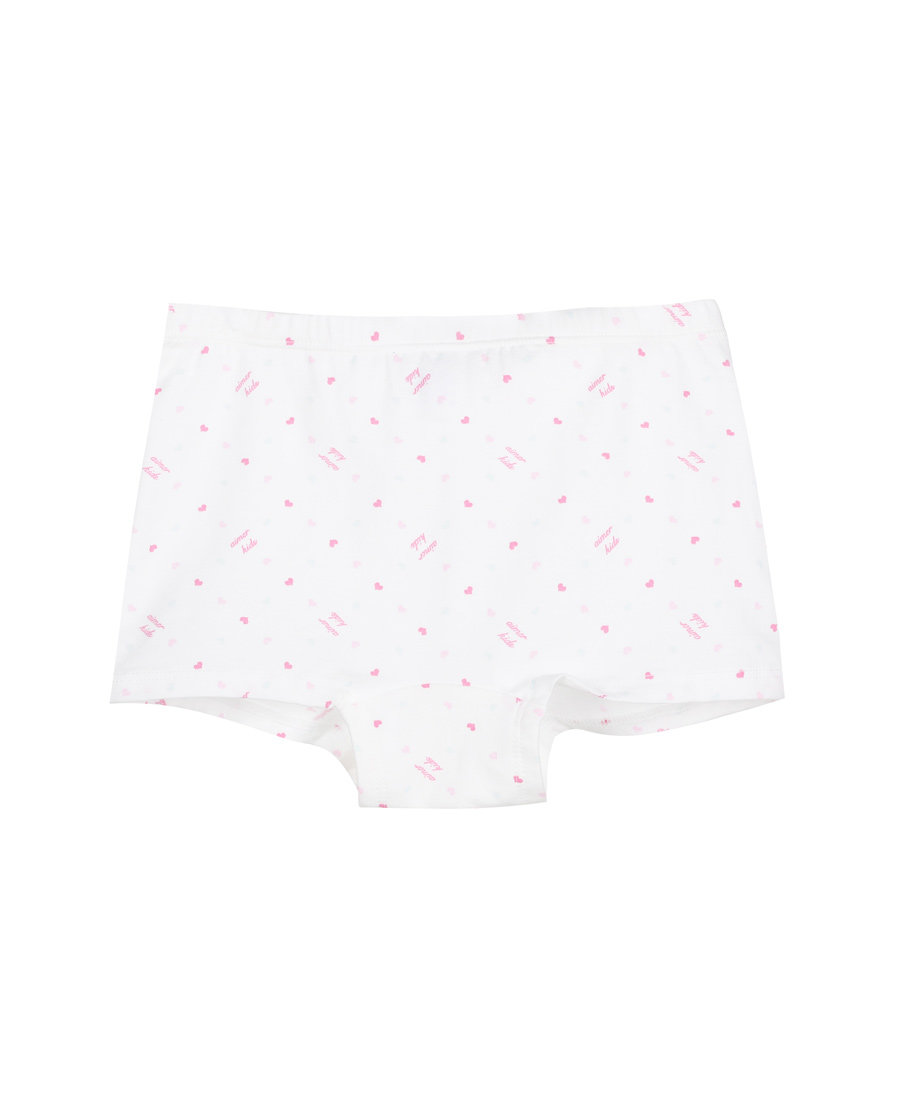 Aimer Kids内裤|ag真人平台儿童天使小裤棉氨纶印花女童中腰平角内裤AK1231212