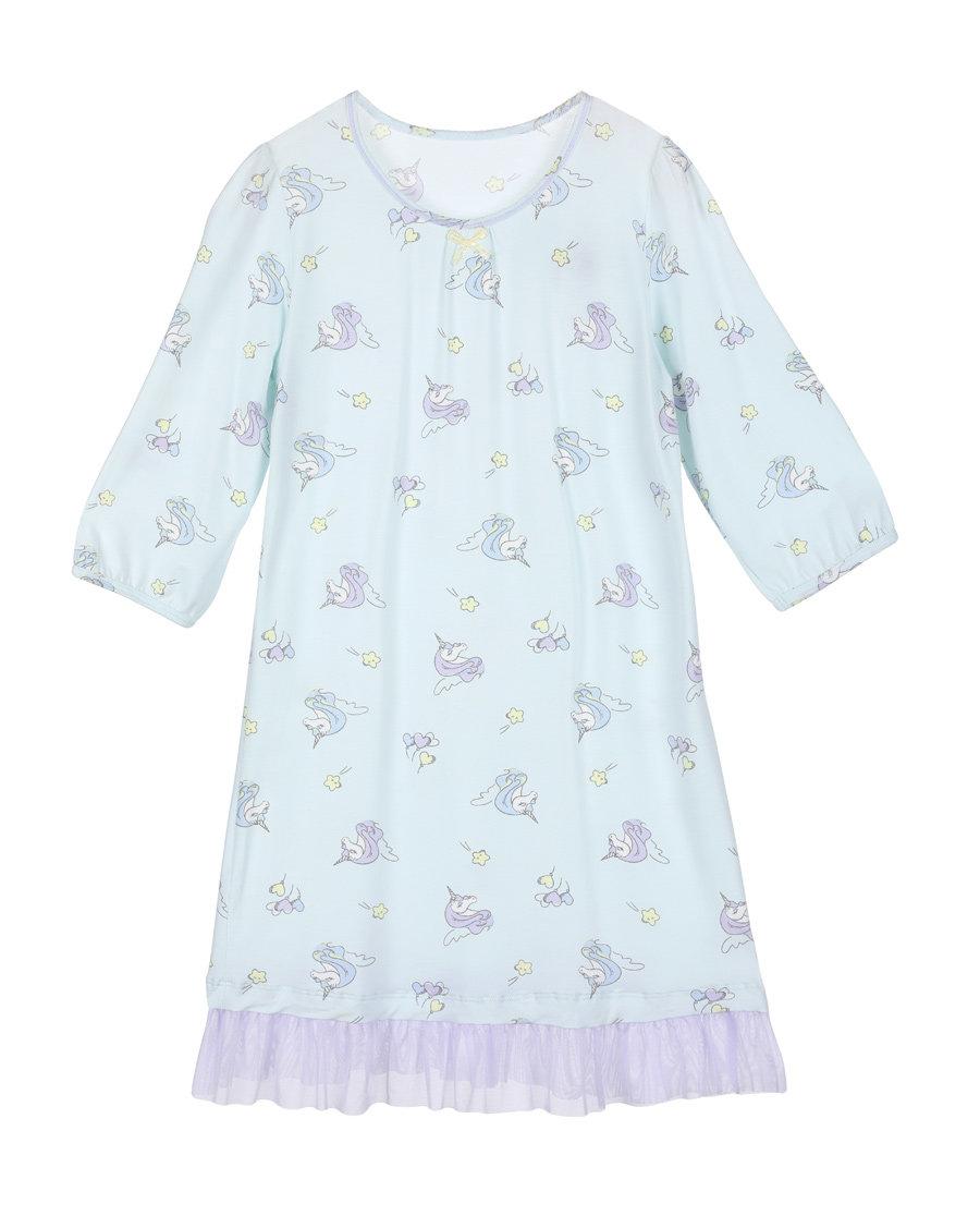 Aimer Kids睡衣|爱慕儿童梦幻独角兽女童七分袖睡裙AK1440931