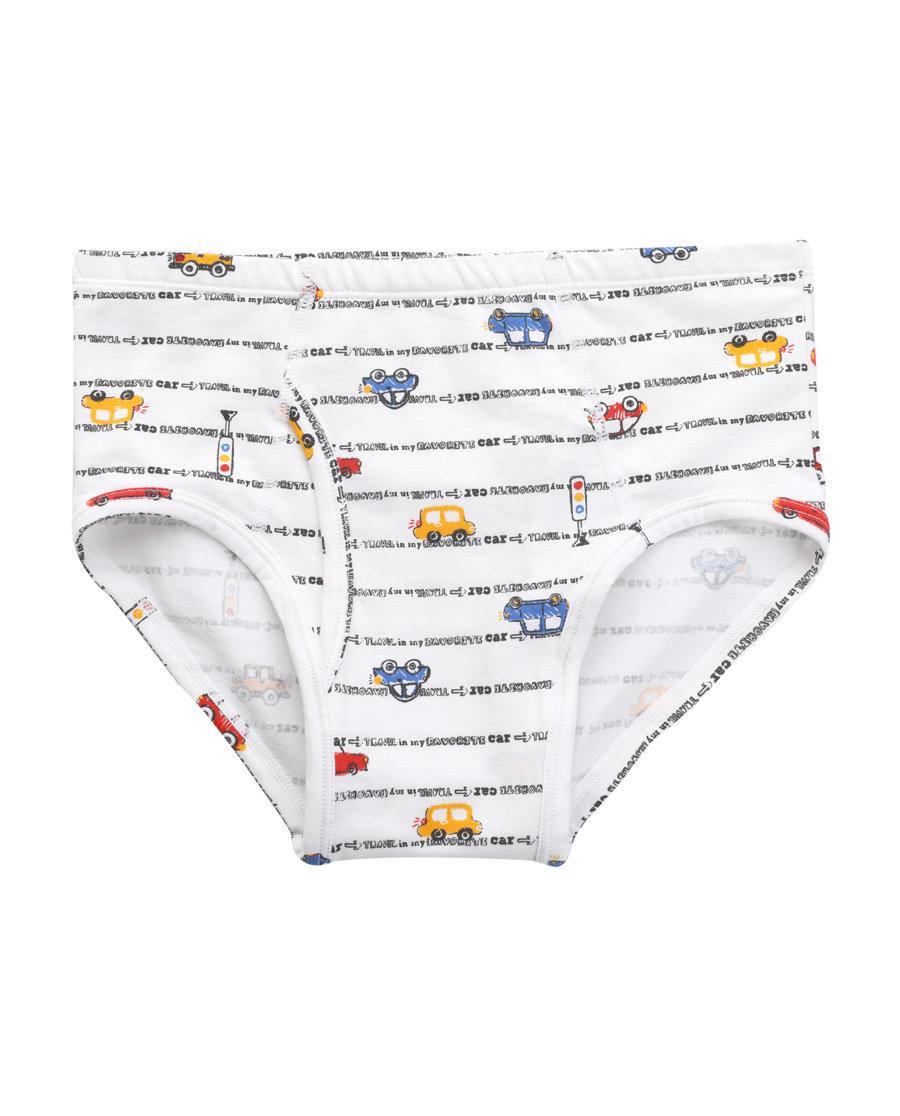 Aimer Kids内裤|爱慕儿童天使小裤棉氨纶印花左行右行男童中腰三角内裤AK2221212