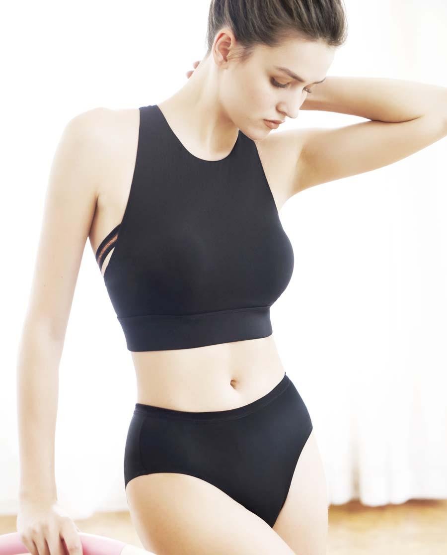 Aimer Sports内裤|爱慕运动优美瑜伽中腰平角内裤AS123G