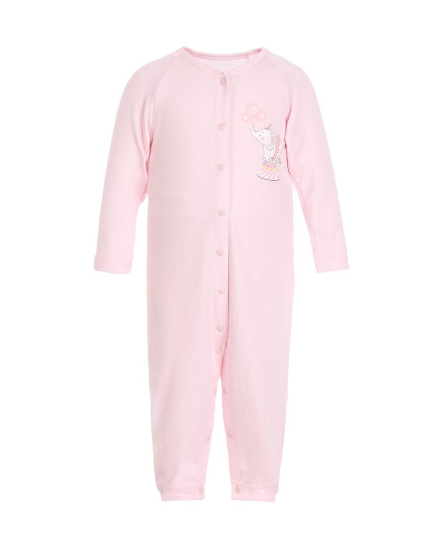 Aimer Baby保暖|爱慕婴幼小象乐园长袖连体爬服AB1751731