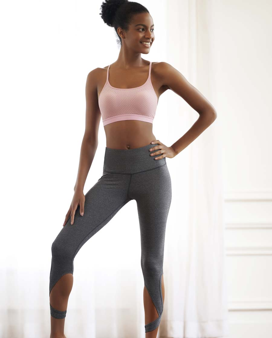 Aimer Sports运动装|爱慕运动优美瑜伽高腰七分裤AS152G8