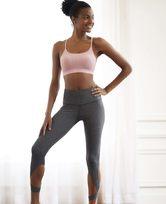 爱慕运动优美瑜伽高腰七分裤AS152G81