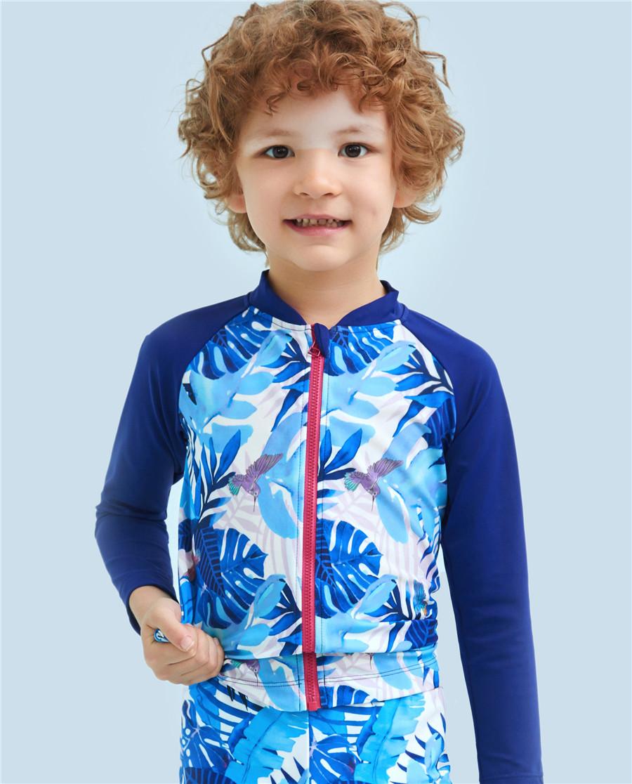 Aimer Kids泳衣|爱慕儿童雨林迷踪长袖泳衣AK2671581