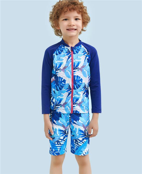 Aimer Kids泳衣|爱慕儿童雨林迷踪五分泳裤AK2671582