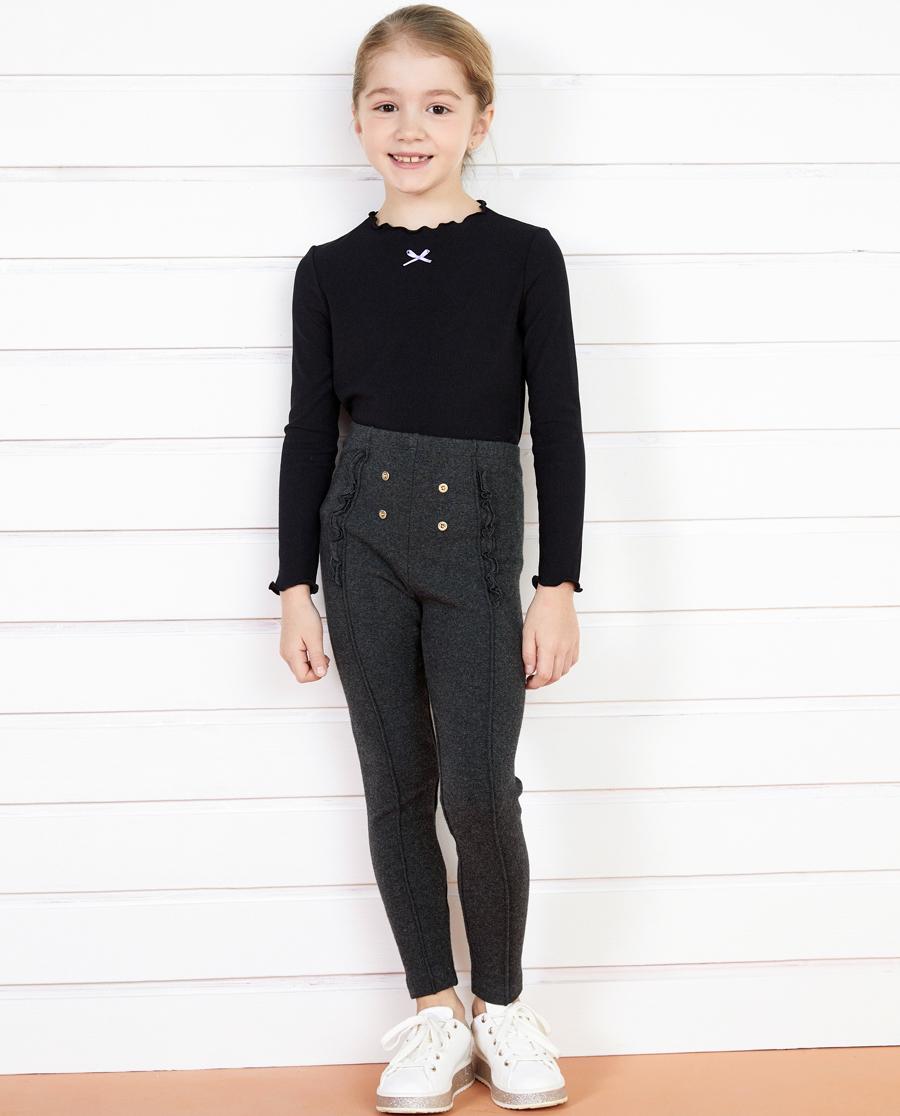 Aimer Kids睡衣|亚洲城儿童时尚打底裤飞边打底裤AK1822