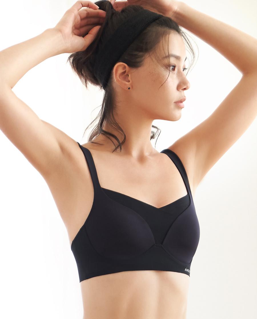 Aimer Sports文胸|亚洲城娱乐美颜瑜伽低强度3/4洞洞杯文胸A