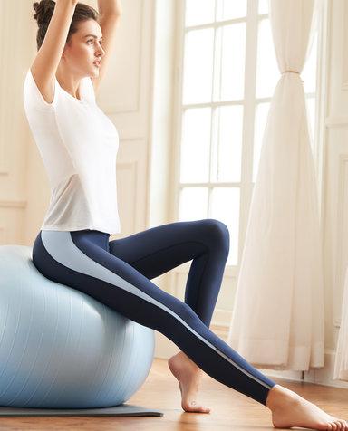 Aimer Sports运动装 爱慕运动舒展瑜伽拼色瑜伽九分裤AS153H11