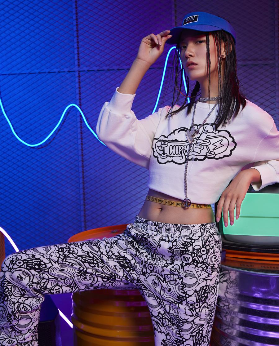 imi's睡衣|爱美丽家居嘻哈少年套头长袖上衣长IM46