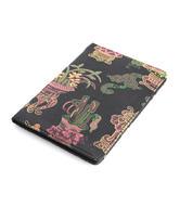 皇锦织锦加皮护照包-博古黑色HJ33305