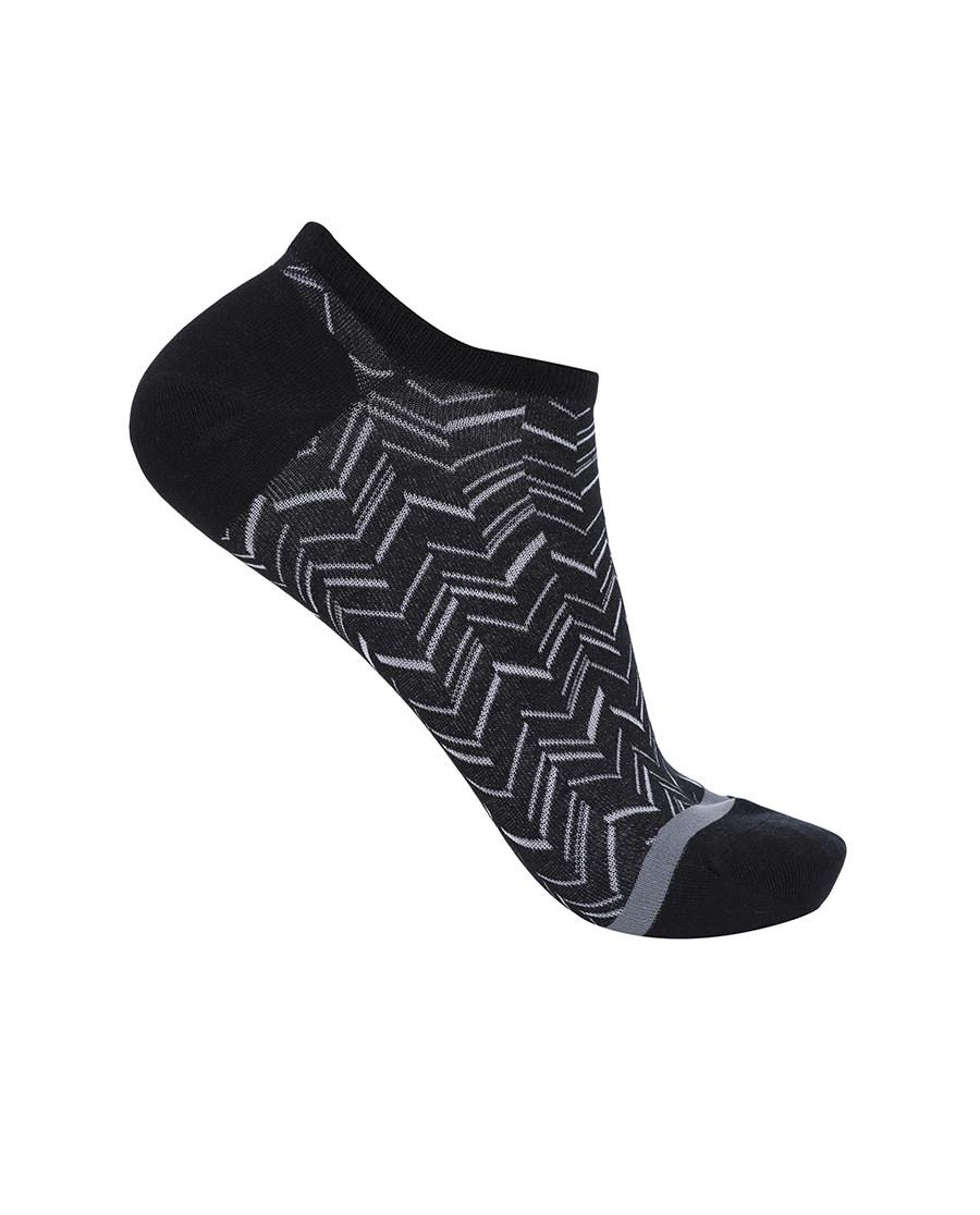 Aimer Men袜子 ag真人平台先生新品人字纹船袜NS94W033
