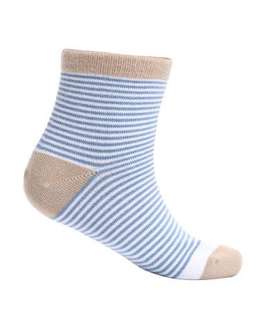 Aimer Kids袜子 爱慕儿童袜子条纹撞色男童袜AK2942462