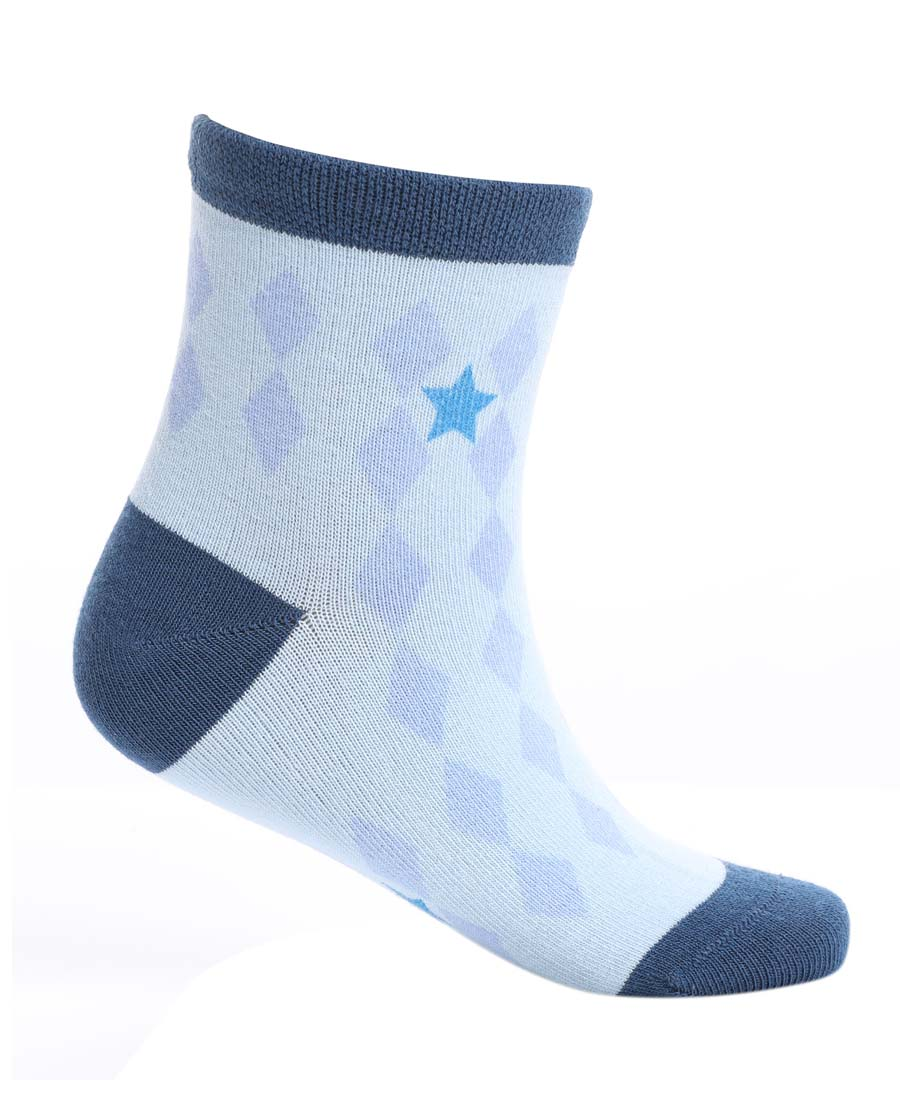 Aimer Kids袜子|爱慕儿童19AW袜子菱形格印花童袜AK2